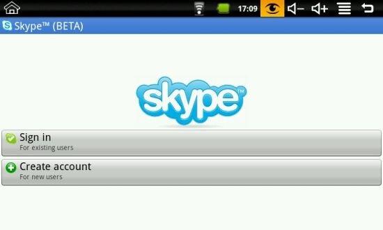 Бета-версия Skype для Android