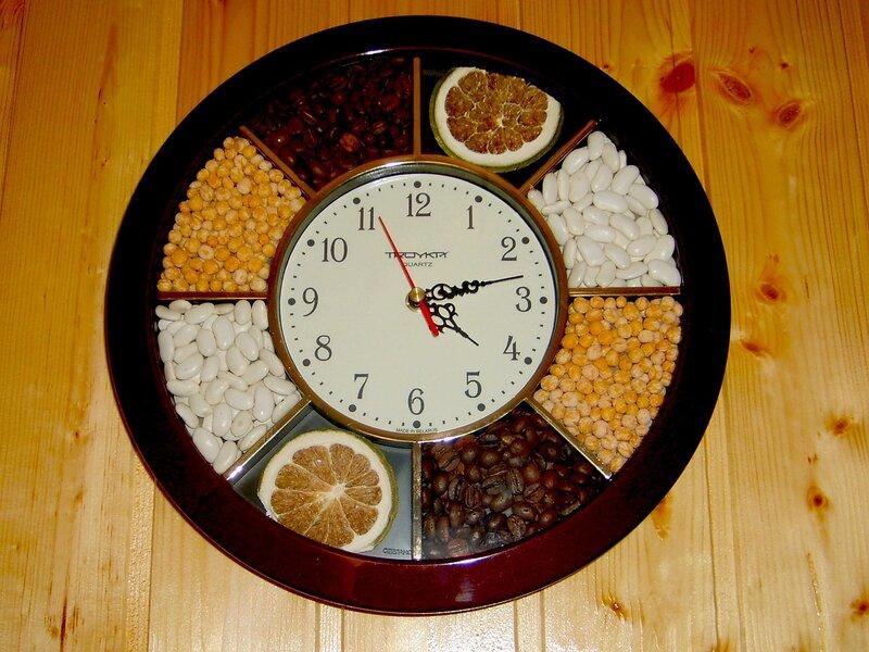 Часы мастер класс на кухню