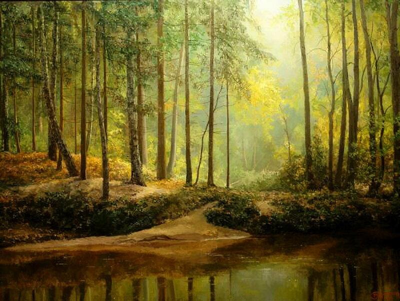 В лесу меж сосен и берёз уснула иволга. Евгений Бурмакин