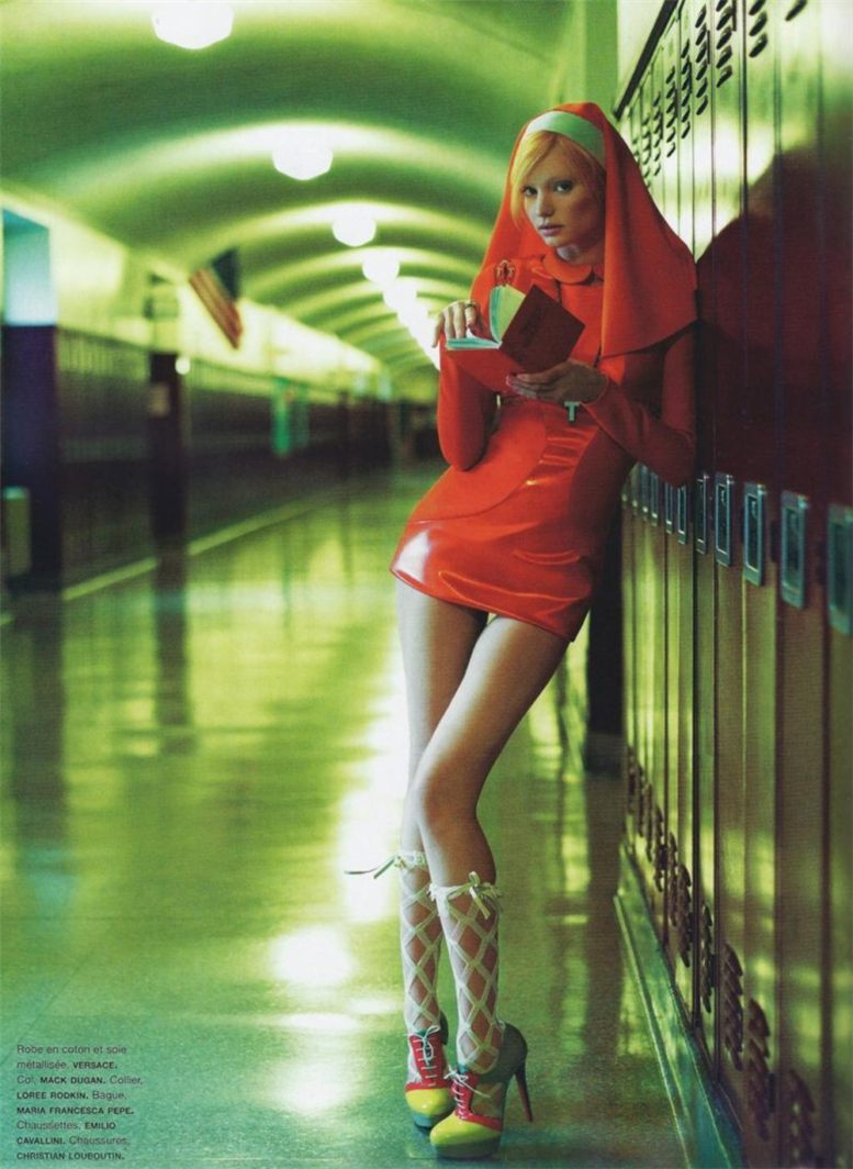 Миранда Керр в красном платье / Miranda Kerr by Greg Kadel