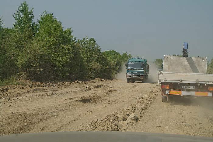 """Строители дороги """"Де-Фриз - Патрокл"""" 40 км. морем пройдут до 2011 года(ФОТО)"""