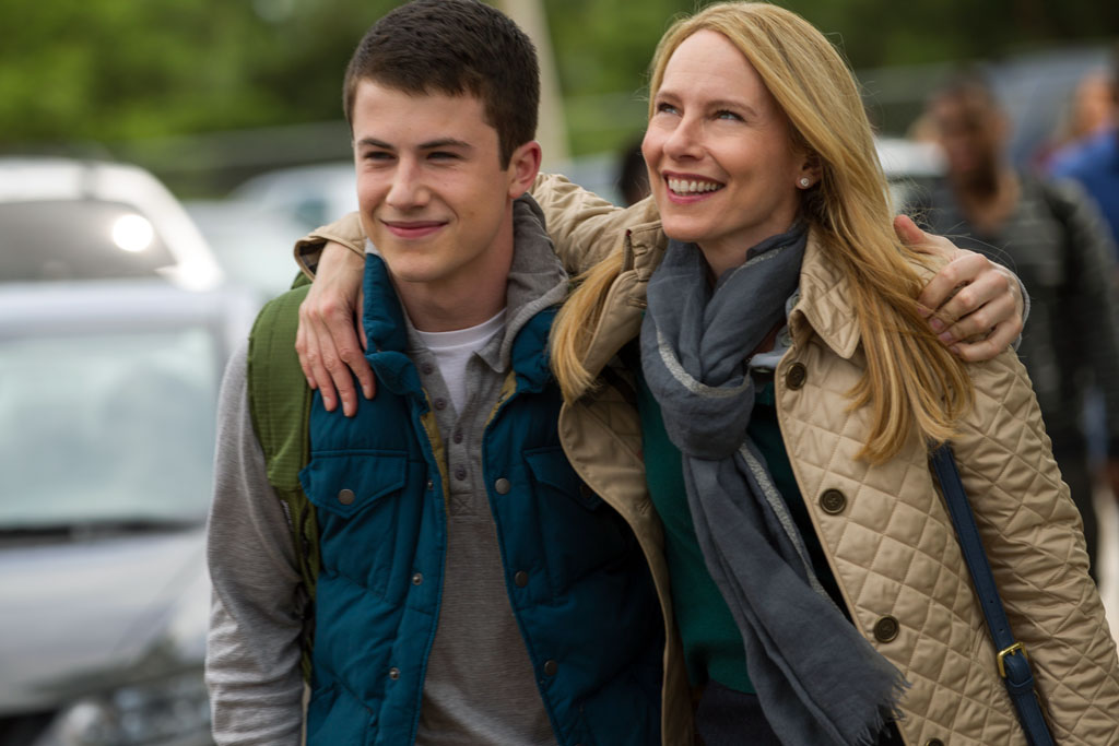 "Dylan Minnette and Amy Ryan in Columbia Pictures' ""Goosebumps,"" starring Jack Black. - Goosebumps"