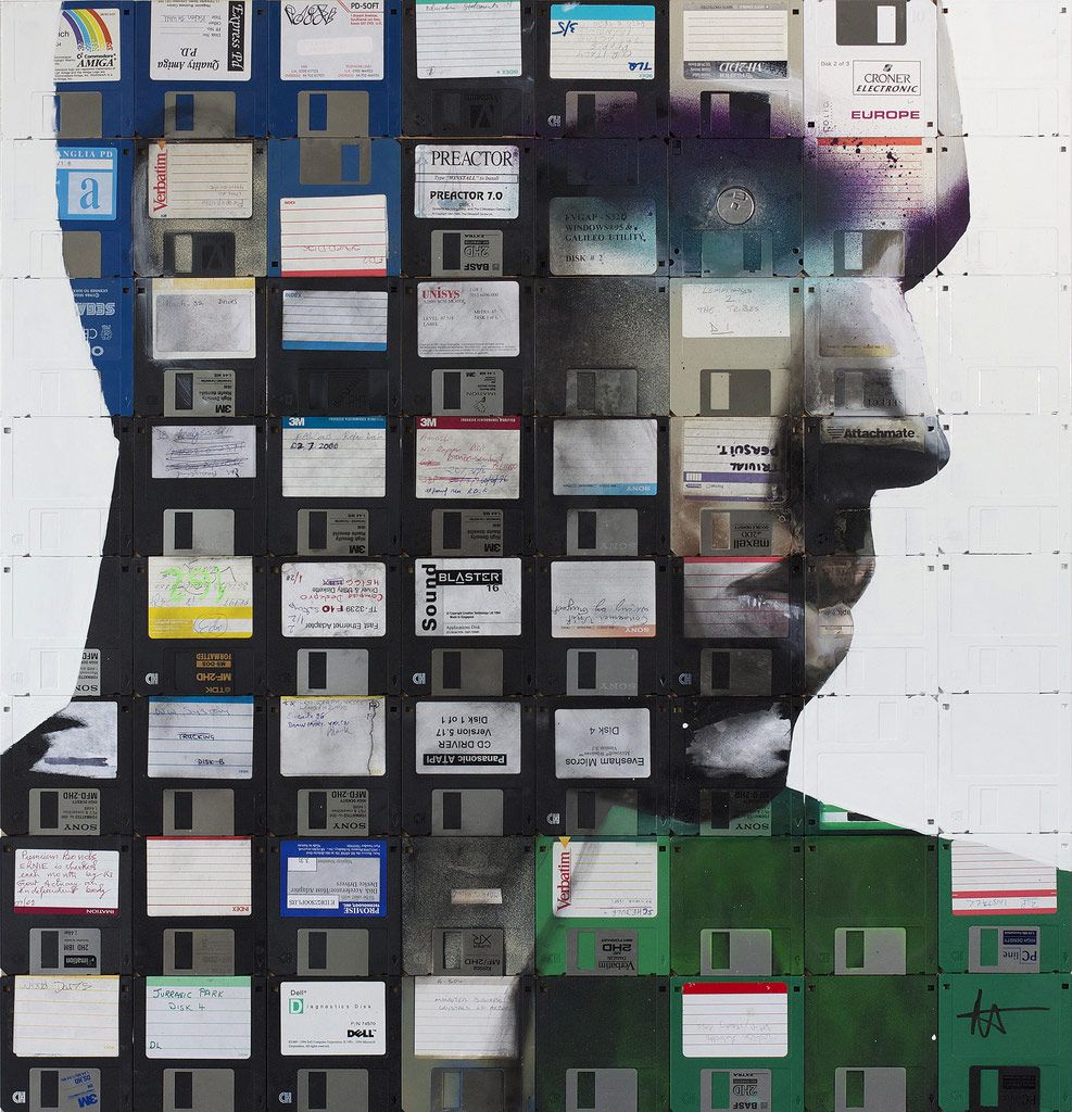 Портреты на дискетах