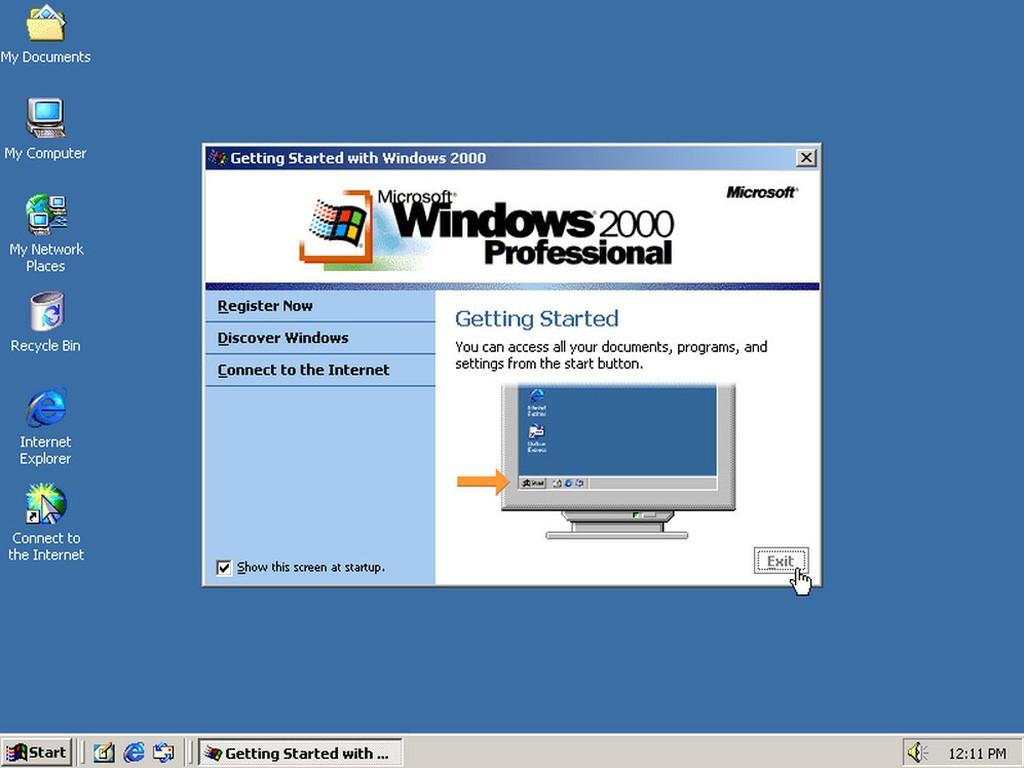 Правда, перед этим компания выкатила Windows 2000 Professional, в которую (помня удачную Windows NT)