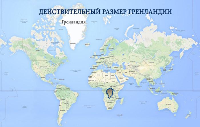 Как обычные карты искажают размеры
