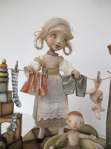 The Big Wash – art doll by Anna Zueva