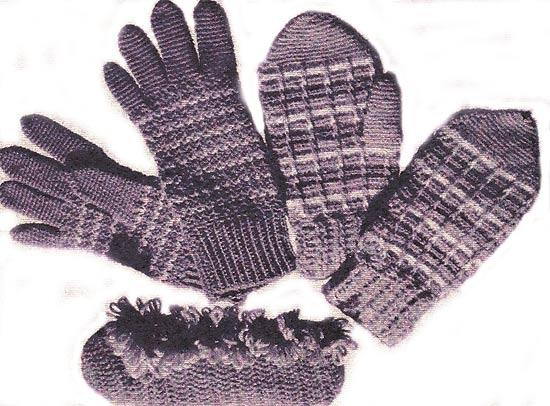 Вязание схема рукавицы.