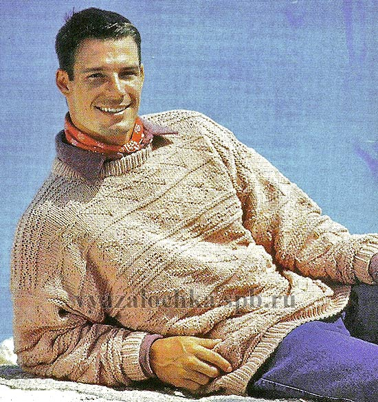 мужской свитер Knitting- cluB Вязание для Вас спицами и крючком.
