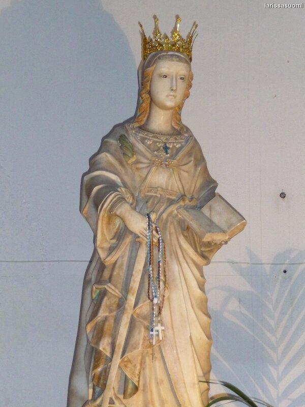 Мраморная статуя Св.Екатерины.