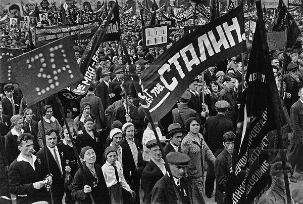 Демонстрация на красной площади 7