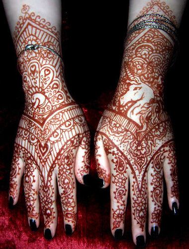 Индийский боди-арт