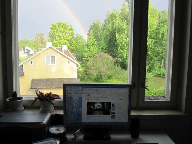 Компьютер и радуга в Варкаусе