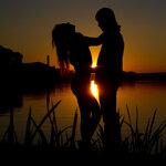 Закат на берегу озера СЕНЕЖ