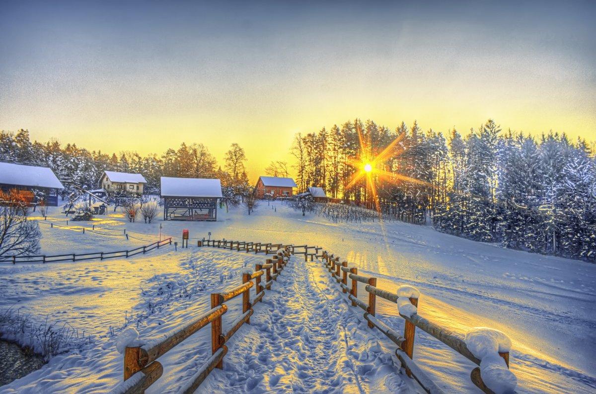 доброе утро в деревне картинки
