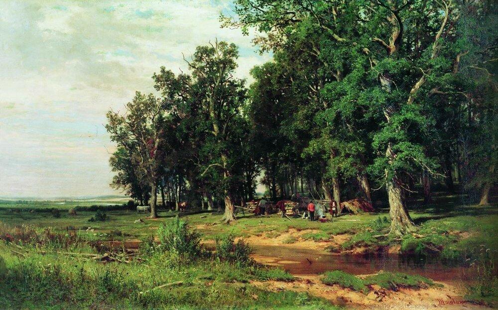 На покосе в дубовой роще 1874 103х167.jpg