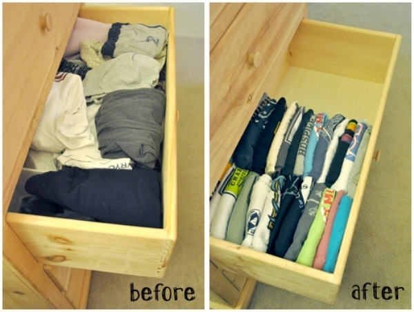 Create a system to get rid of old clothes.