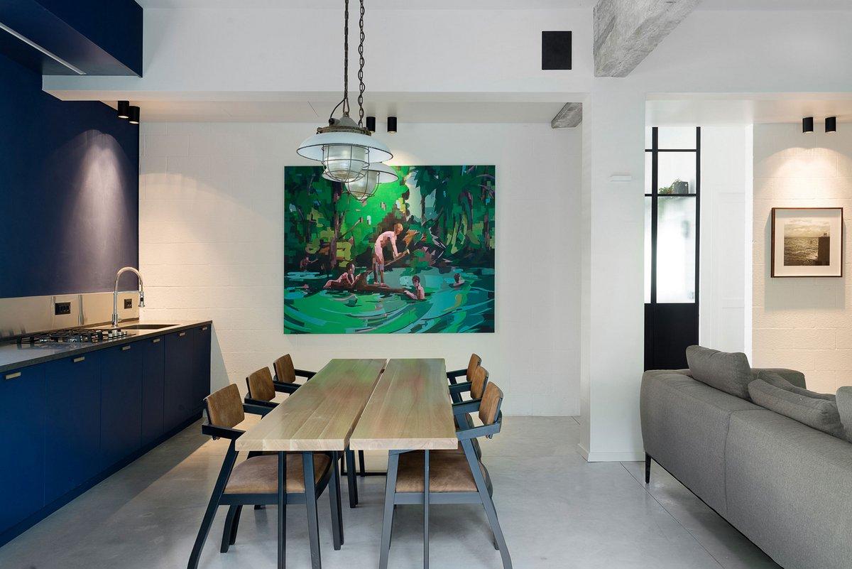 Raanans Stern's Studio, план квартиры, схема квартиры, современный интерьер квартиры, оформление небольшой квартиры фото, современный дизайн интерьера