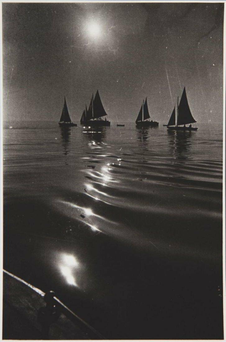 1930-е. Яков Николаевич Халип. Ночная сцена с парусниками