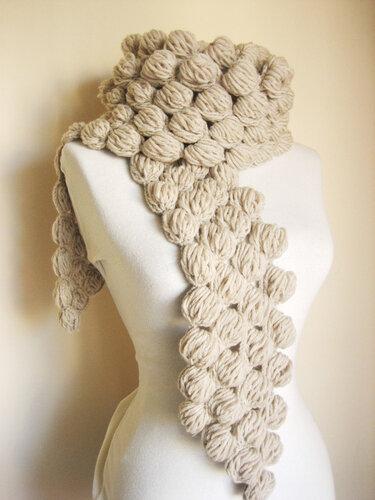 схемы вязания крючком шарфа для начинающих.
