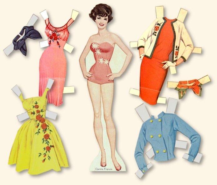 Игры одевалки бумажные куклы