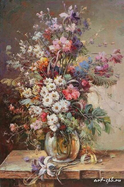 Художник Хлебников Алексей - красивые цветы