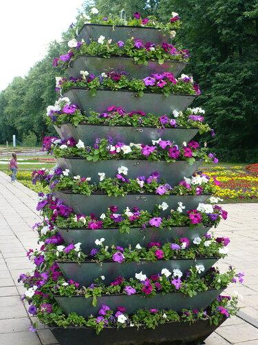 Вертикальные цветники своими руками фото