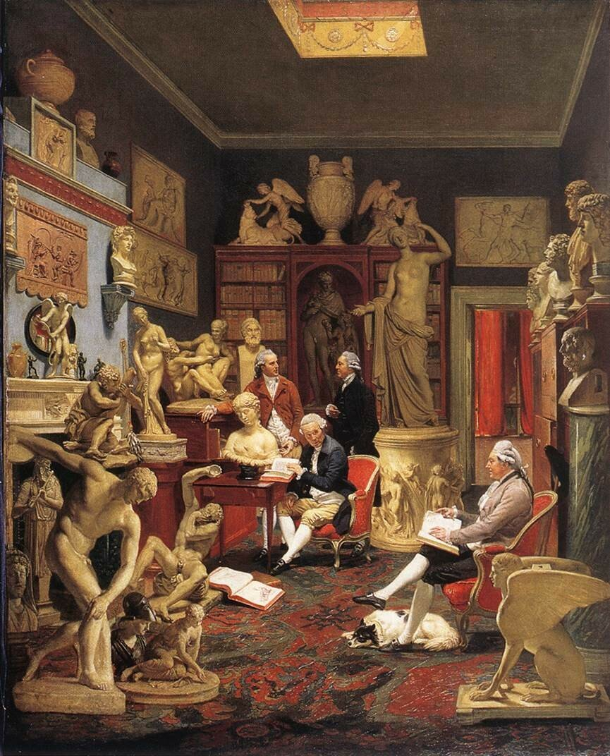 Charles Towneley in his Sculpture Gallery 1782.jpg