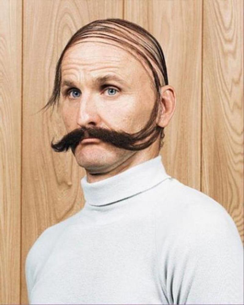 Прически с бородами на лысую голову