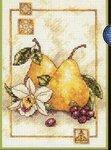 Набор для вышивания Груши и орхидеи, Dimensions 6942 купить в санкт петербурге Шале, Aida 14, Счетный крест.