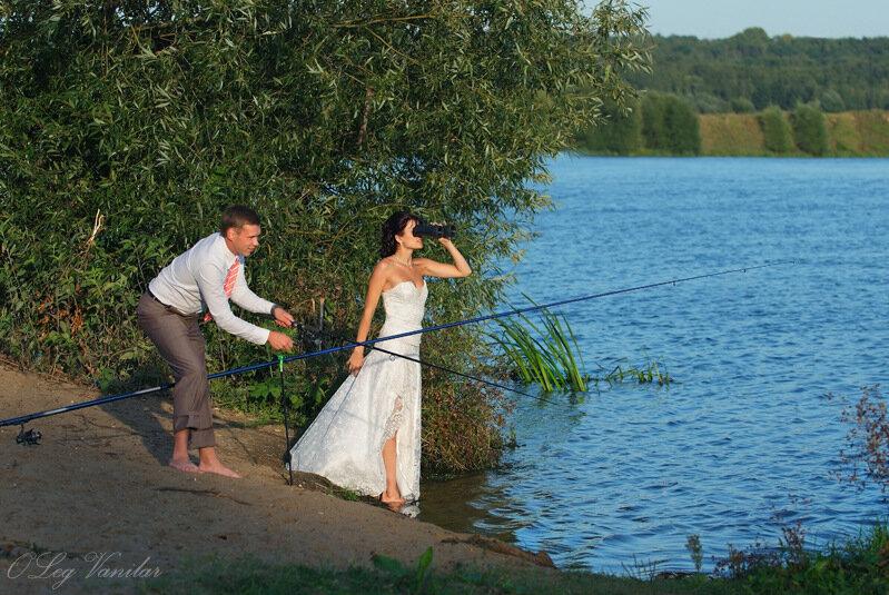 на рыбалке с любимыми женщинами