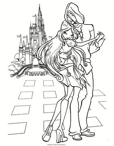 Раскраски винкс от принцессы сиренити!