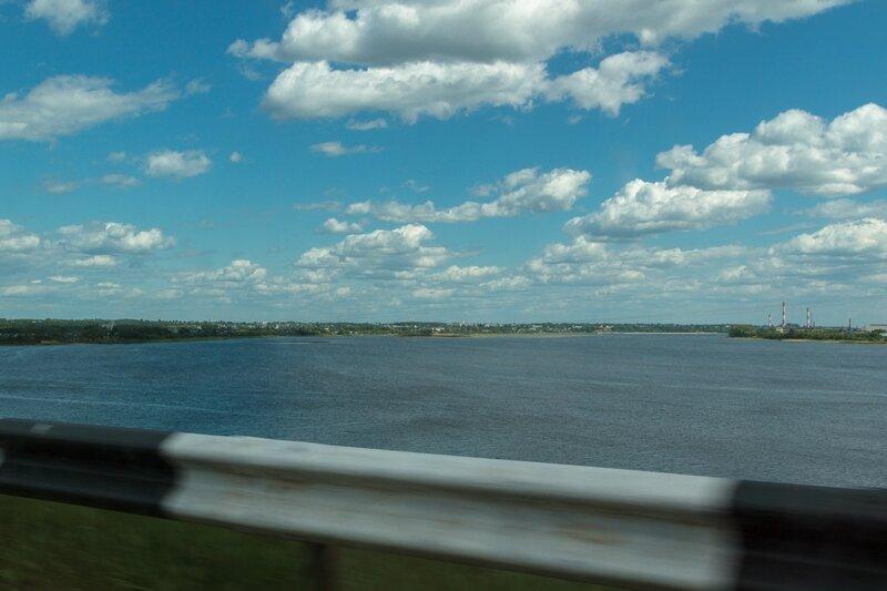 Волга, вид в сторону Городца и Заволжья