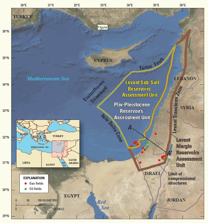Assessment of Undiscovered Oil and Gas Resources of the Levant Basin Province, Eastern Mediterranean ile ilgili görsel sonucu