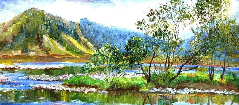 Томь в районе горы Югус