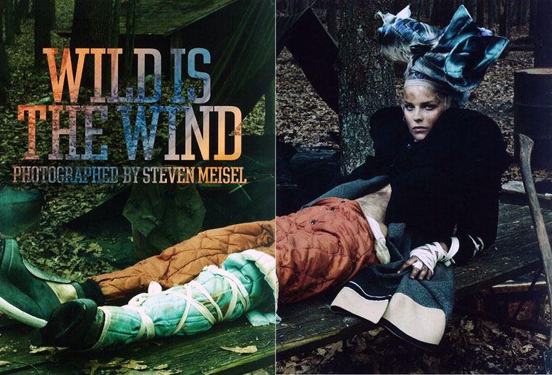 Ева Герцигова / Eva Herzigova, Tanga Moreau, Yuri Pleskun, Will Lewis, Cole Mohr by Steven Meisel in Wild is the Wind