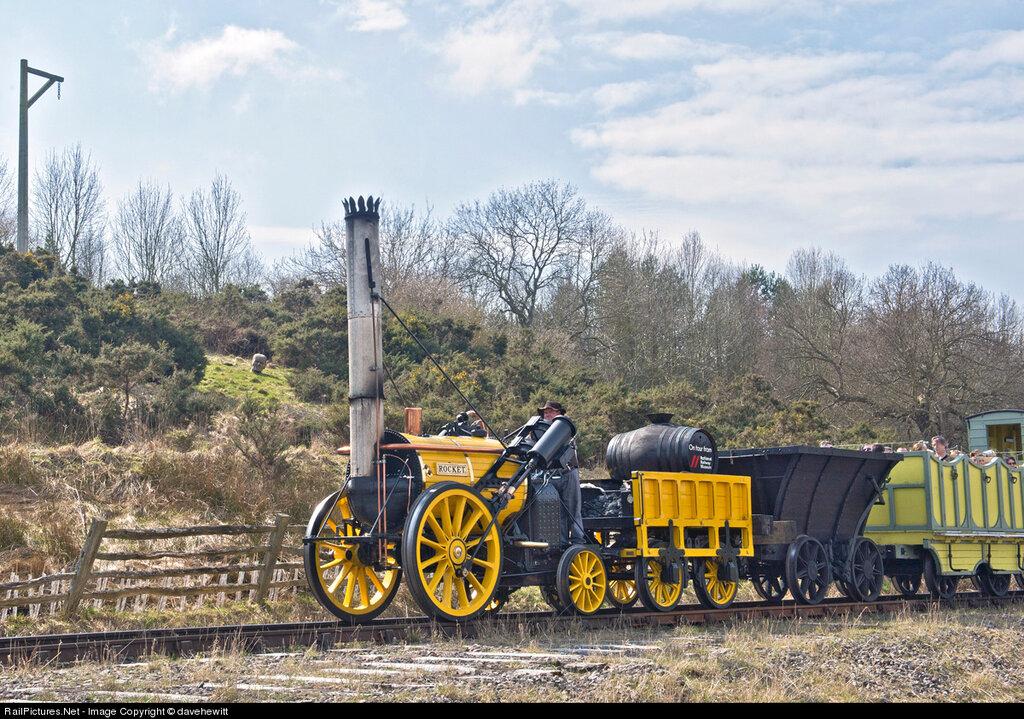 Locomotive 0-2-2 steam, Beamish Museum, Gateshead, United Kingdom, April 13, 2013