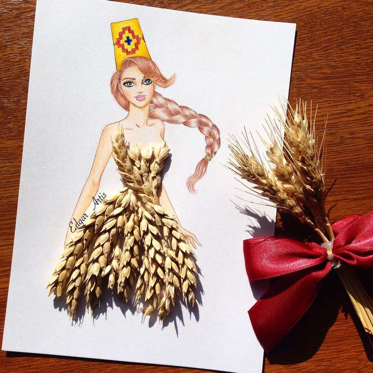 Food Fashion - Illustrator imagines creative and appetizing culinary dresses