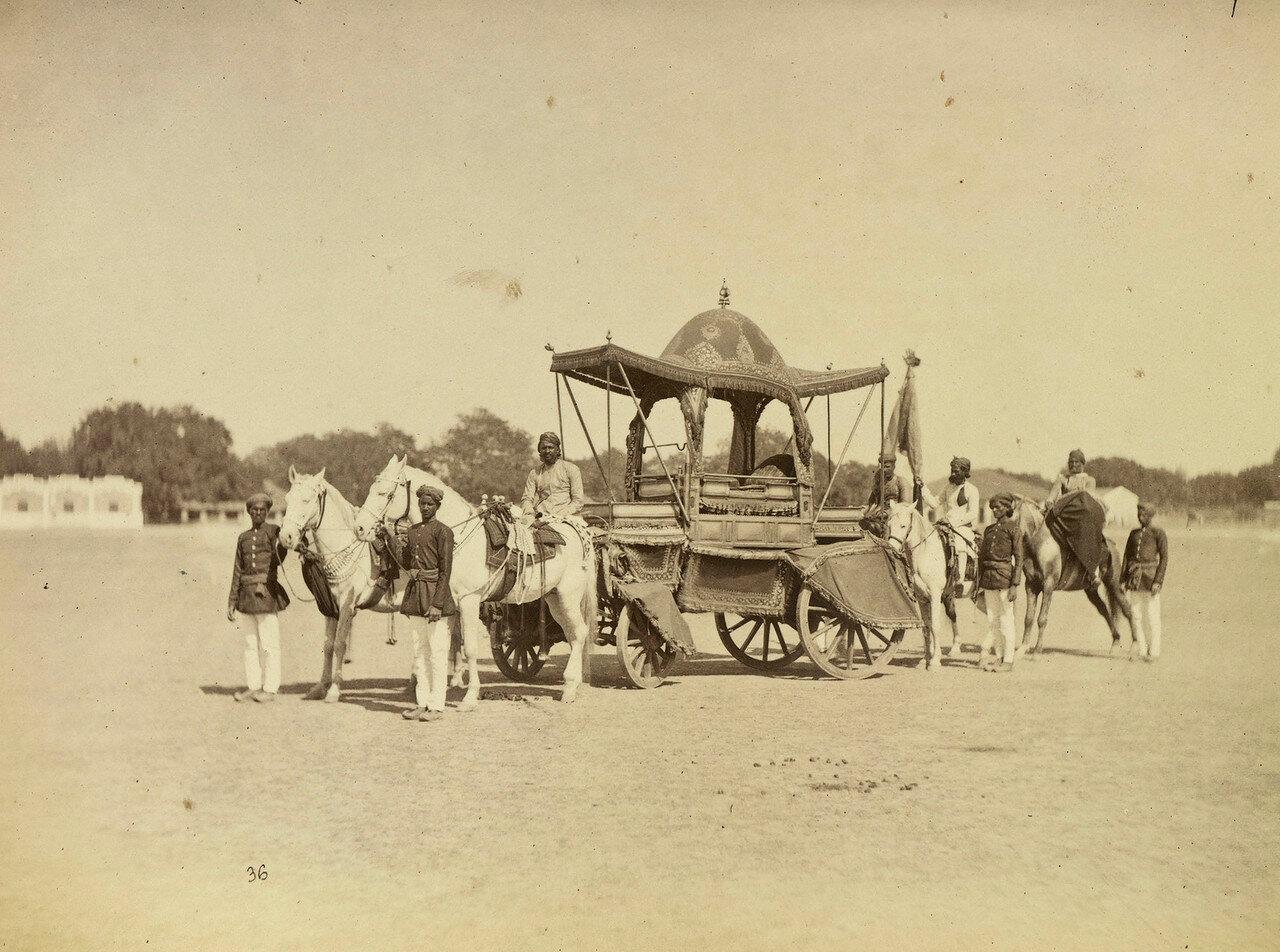 76. Торжественная колесница махараджи Алвара