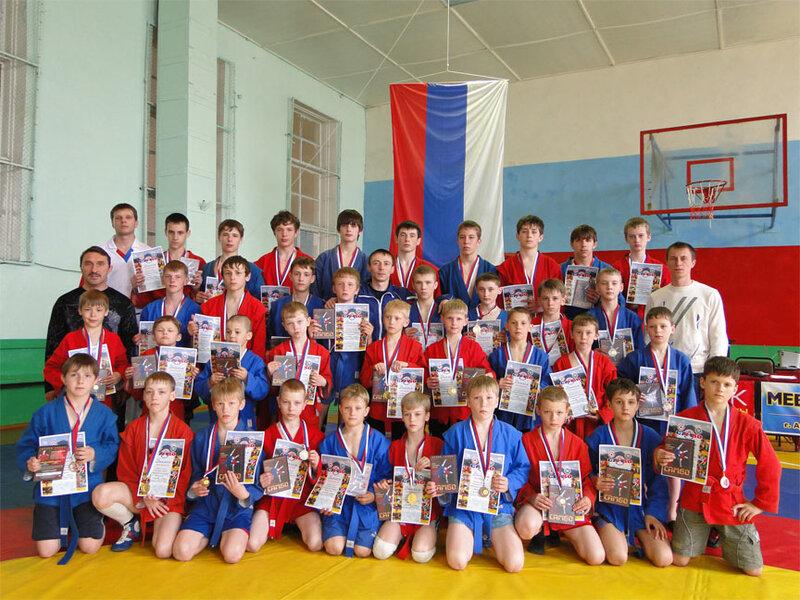 победители и призёры Первенства г.Арсеньева по самбо 2010