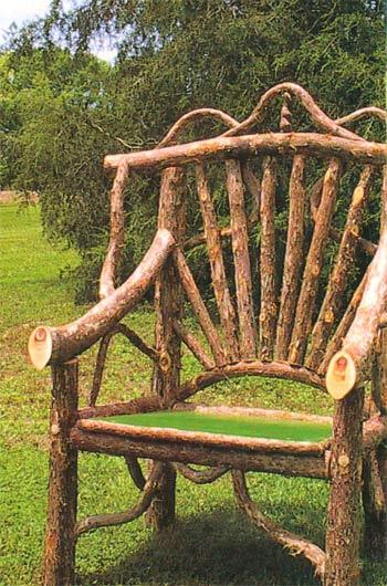 кресло стул мебель своими руками из веток