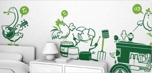 идеи для декора детской роспись на стене