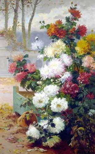 Chrysanthemums. Eugene Henri Cauchois (1850-1911)