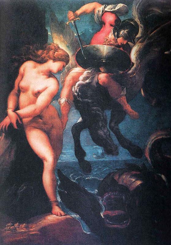 Персей и Андромеда, Мораццоне.10-е гг. XVII века.Флоренция, галерея Уффици