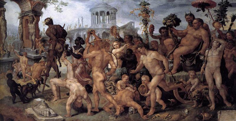 Мартен ван Хеемскерк, 1537-38 гг.Вена, Музей истории искусств,  Триумфальная процессия Вакха