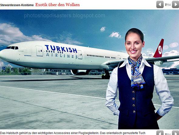 Турецкие авиалинии. Наши стюардессы настолько сексуальны, что фюзеляжи самолетов торчат даже без переднего шасси!