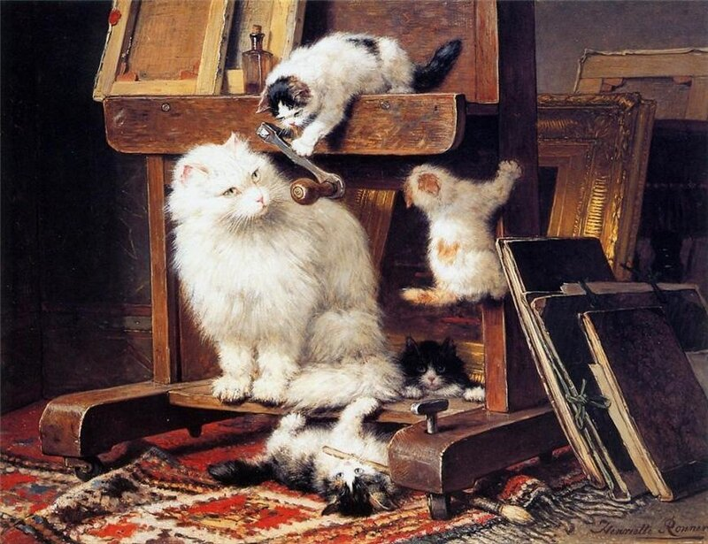 Рисованные кошки
