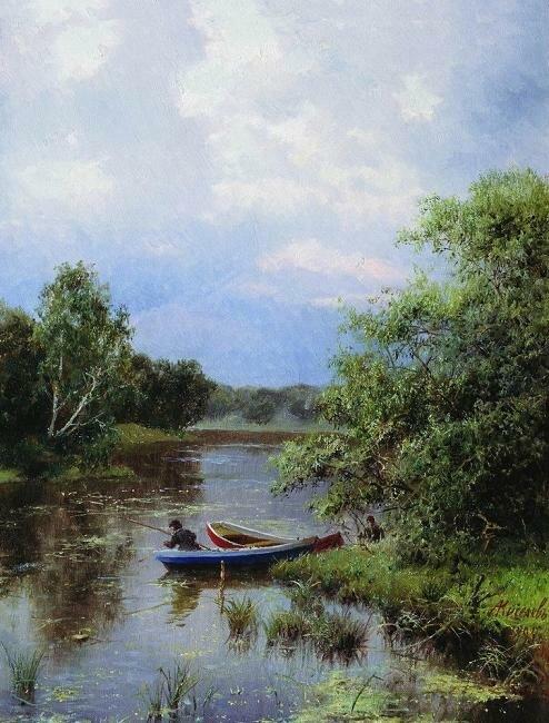 Киселев Александр Александрович На пруду. 1894