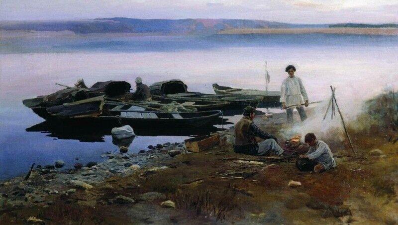 Алексей Степанов. На Волге, 1897