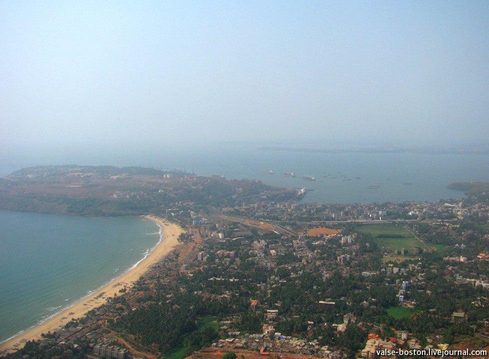 Вид на Гоа с самолета, Индия / India, Goa