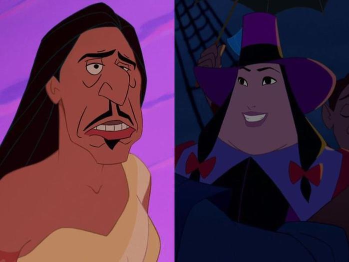 Что будет, если поменять лица героям и злодеям мульфильмов Диснея